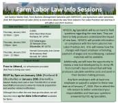 *CANCELLED* Farm Labor Law Info Sessions - Portland
