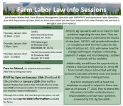 *CANCELLED* Farm Labor Law Info Sessions - Ellicottville