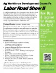 Labor Road Show II- New Date & Location for WNY!