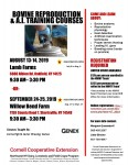 Bovine Reproduction and AI Training Course
