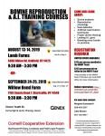 Bovine Reproduction and AI Training Course